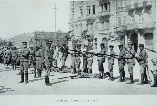 Armenian Army alongside British Troops in Baku 1918