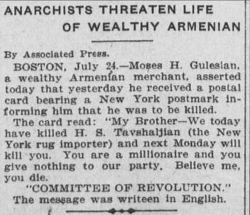 Committee of Revolution. Los Angeles Herald - 25 July 1907