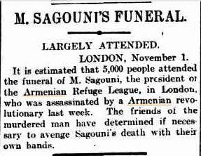 Armenian Revolutionary terror wasn't confined only to Ottoman territories. The Advertiser, 3 Nov 1903 p.5